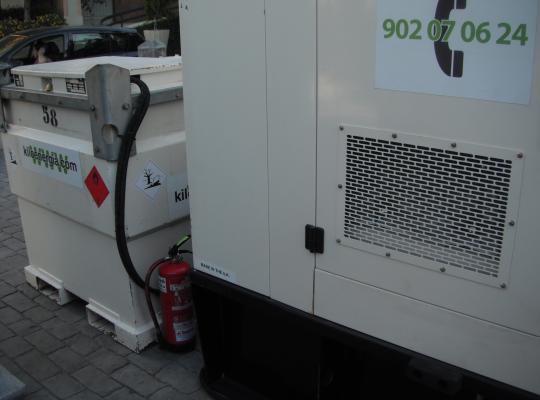alquiler grupos electrogens por industria repostatge profesional en Barcelona catalunya economics